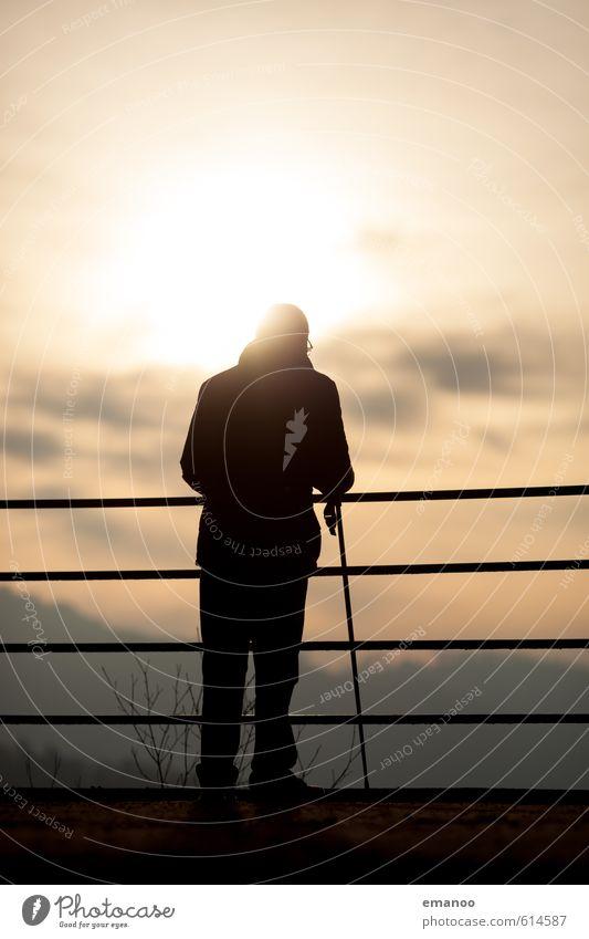 sunset senior Lifestyle Wohlgefühl Erholung ruhig Ferien & Urlaub & Reisen Tourismus Ausflug Freiheit Berge u. Gebirge wandern Mensch Mann Erwachsene