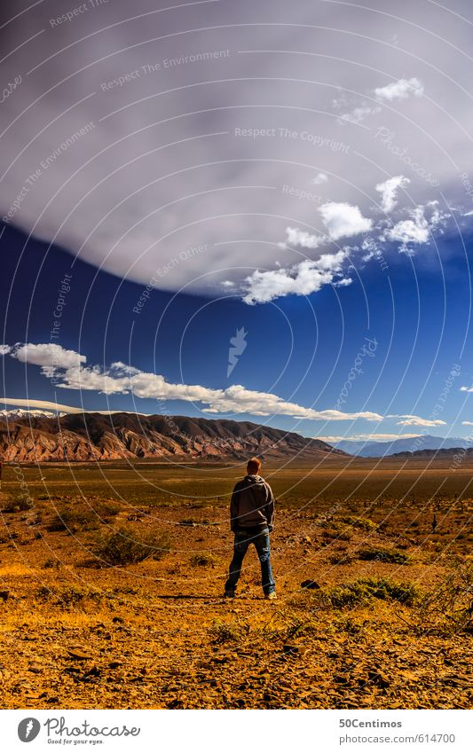Frei und Jung - Reisen bis ans Ende Mensch Kind Natur Jugendliche Ferien & Urlaub & Reisen Landschaft Wolken 18-30 Jahre Ferne Junger Mann Erwachsene Umwelt