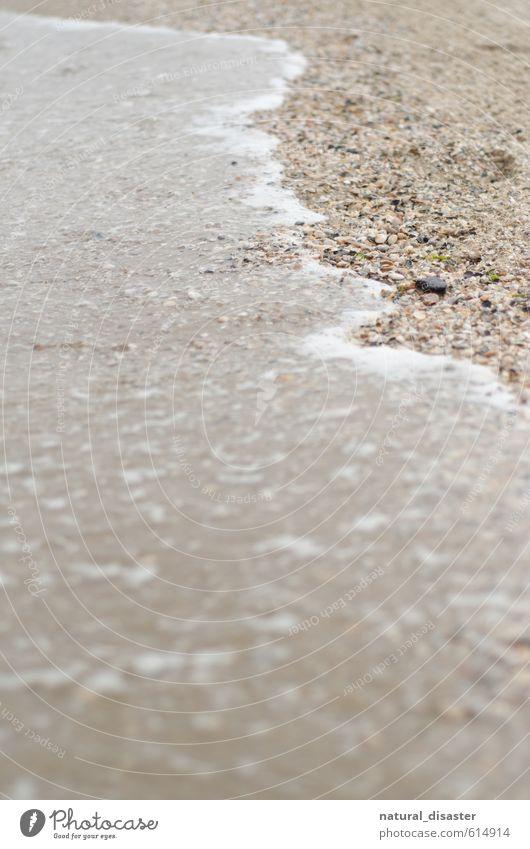 Sand umspülendes Meer Natur Wasser Strand Küste Stein braun Wetter nass Flüssigkeit