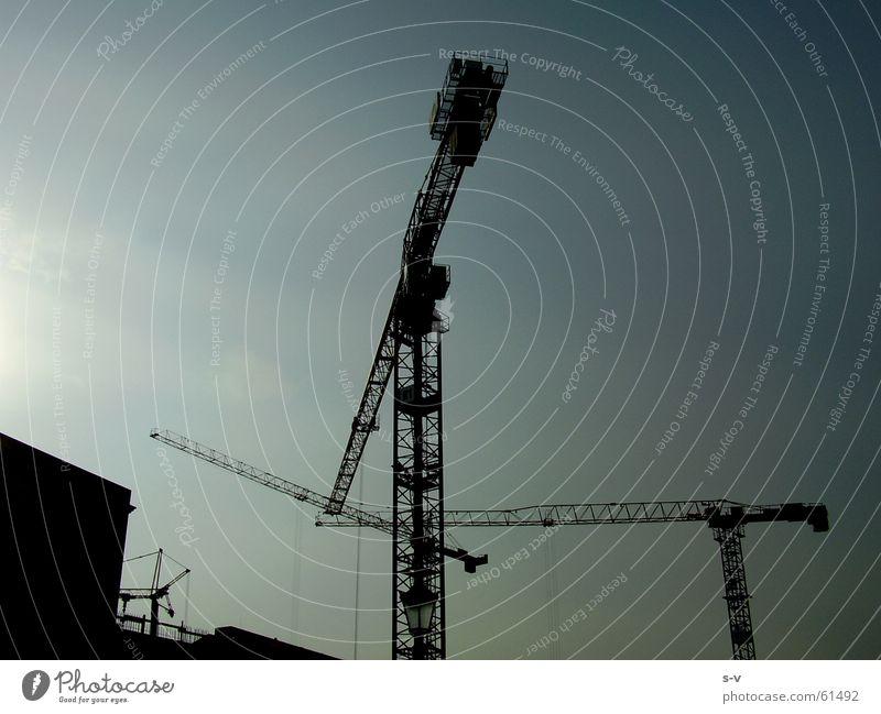 Pariser Platz Himmel cranes sky blue