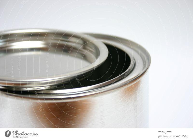 Dose die IV aufmachen Blech Behälter u. Gefäße schließen can offen Gully Metall Farbe Reflexion & Spiegelung