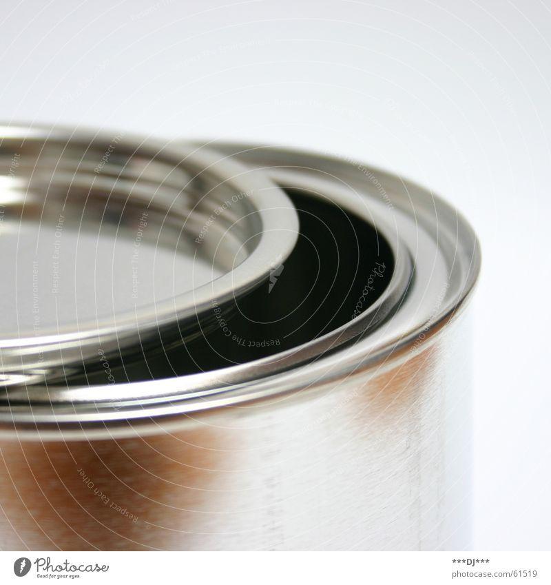 Dose die V aufmachen Blech Behälter u. Gefäße schließen can offen Gully Metall Farbe Reflexion & Spiegelung