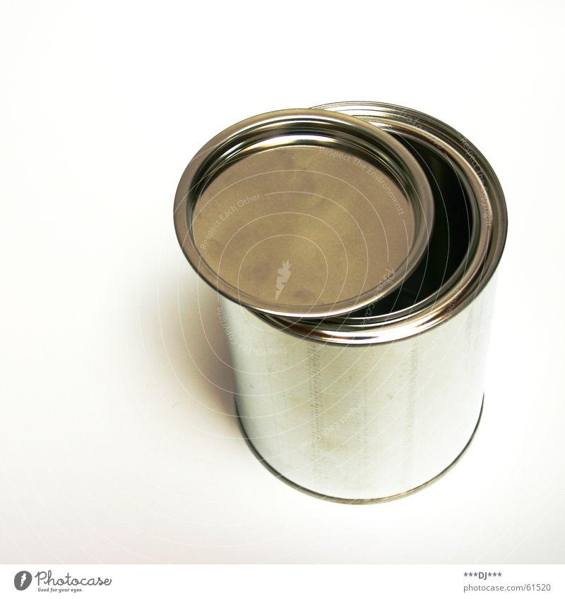 Dose die VI aufmachen Blech Behälter u. Gefäße schließen retro can offen Gully Metall Farbe Reflexion & Spiegelung