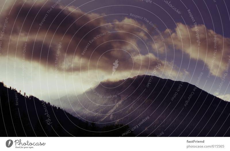 Schön! Natur Landschaft Luft Himmel Wolken Sonne Sommer Schönes Wetter Alpen Berge u. Gebirge Gipfel ästhetisch authentisch schön Sonnenstrahlen Tal Bayern