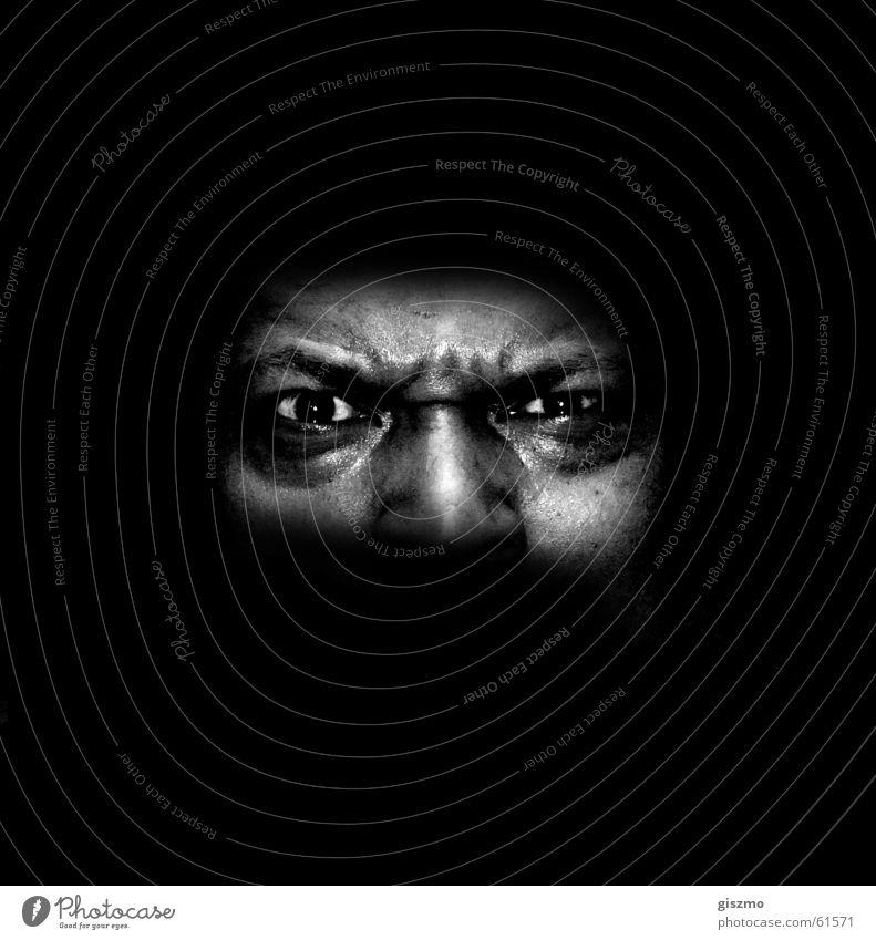 Ärger 2 Auge Wut Hass