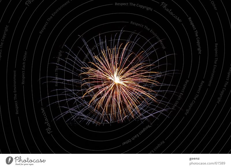 Feuerwerk Silvester u. Neujahr festlich glänzend Knall Explosion explodieren Feste & Feiern Funken knallen Lampe