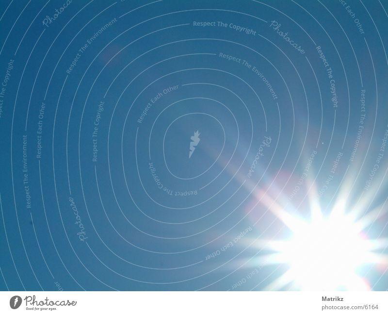 Sunburst Überstrahlung Himmel Sonne blau Stern (Symbol) Beleuchtung blue sun sunburst ray sky clear