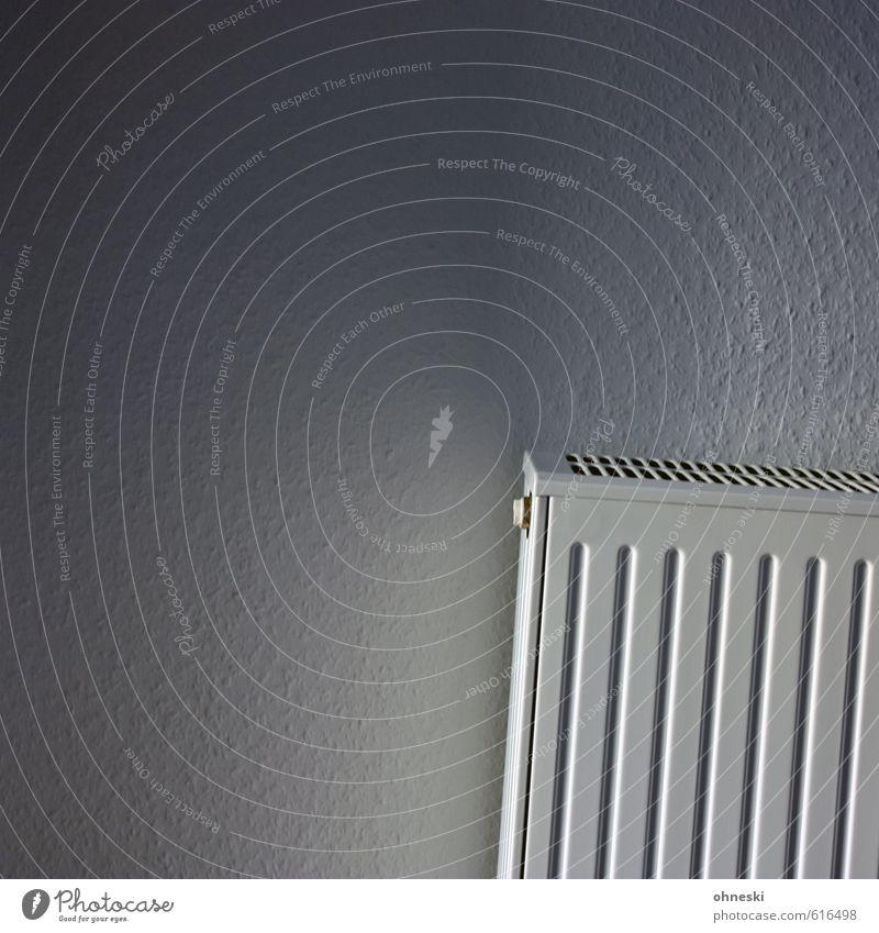 Heizkostenabrechnung Häusliches Leben Wohnung Tapete Raum Energiewirtschaft Energiekrise Haus Mauer Wand Heizung Heizkörper weiß Umweltschutz Neigung Farbfoto