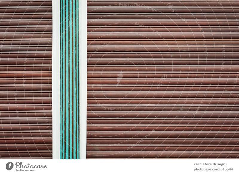 Ruhetag Fenster Rollladen Linie einfach Freundlichkeit Fröhlichkeit einzigartig lustig braun grün weiß Sicherheit Schutz ruhig Ordnungsliebe Reinlichkeit