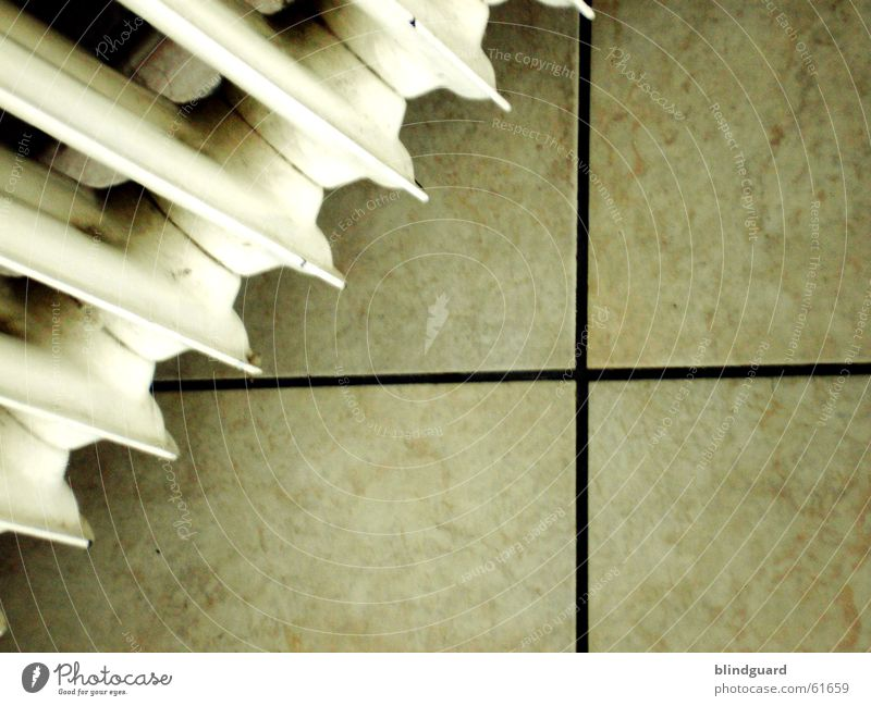 Alles eine Frage des Blickwinkels weiß Winter Leben kalt Wärme Linie Raum Wohnung verrückt Ecke Bodenbelag Physik Häusliches Leben Fliesen u. Kacheln diagonal