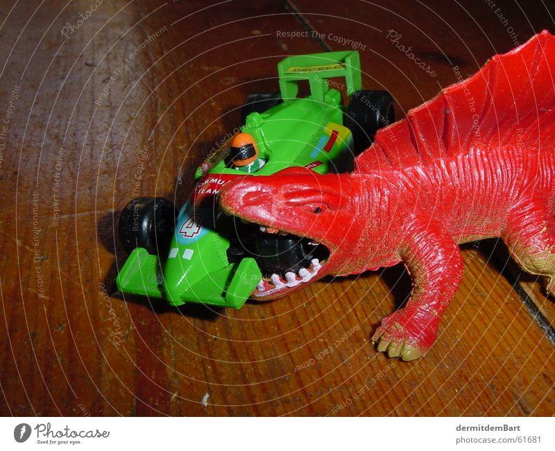 Pitstop grün PKW Dinosaurier Rauschmittel Automechaniker