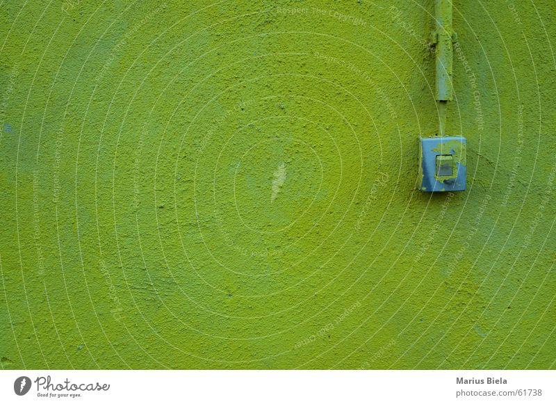 licht an / licht aus grün gelb Wand Mauer Schalter