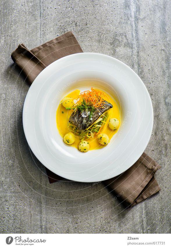 winterkabeljau Stil Gesundheit Lebensmittel elegant Design Ordnung frisch ästhetisch genießen Sauberkeit Kochen & Garen & Backen Fisch rein Gemüse