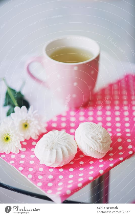 Schaumzucker weiß Liebe Feste & Feiern Lebensmittel rosa Lifestyle Geburtstag genießen Ernährung Getränk süß Hochzeit Romantik zart Süßwaren lecker