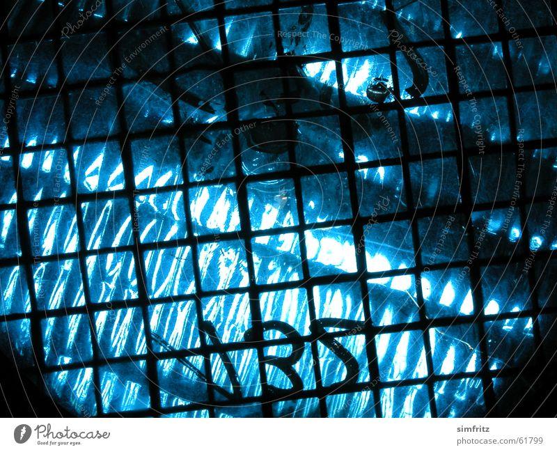Blue's blau schwarz Wärme Beleuchtung Ziffern & Zahlen Physik heiß Bühne Theaterschauspiel Scheinwerfer Gitter Futurismus