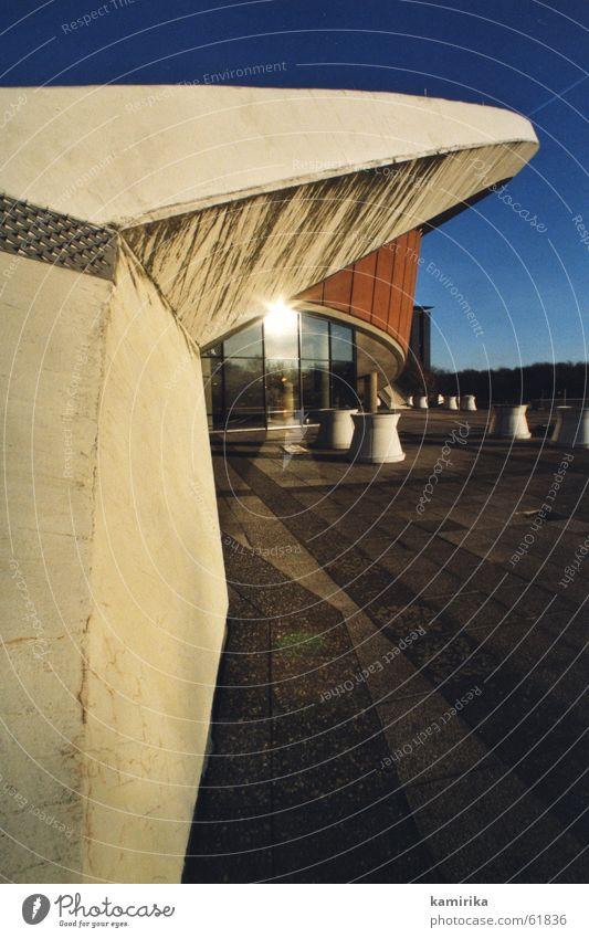 auster (schwanger) #1 Kultur Haus Gebäude Beton Fenster Reflexion & Spiegelung Strebe Dach Wand Berlin haus der kulturen Glas Konstruktion Betonbauweise