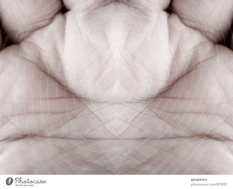 Mirror Mutant Hand alt Linie Haut Spiegel Falte Gensequenz Genmanipulation