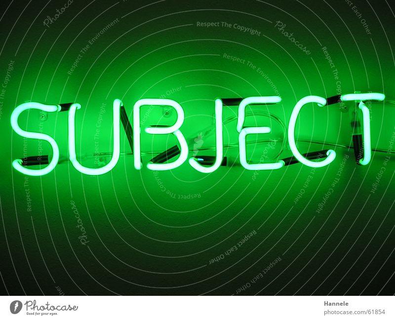 kunst Mensch grün Wand Lampe Kunst Elektrizität Buchstaben Museum Neonlicht