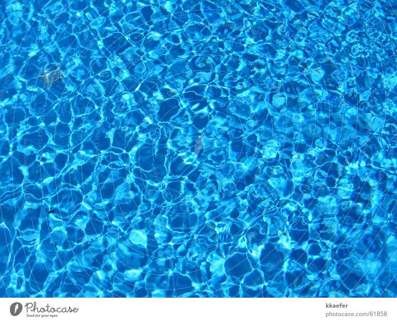 Wasser blau nass Schwimmbad Erfrischung