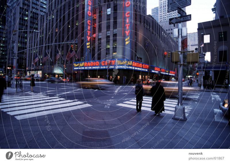 Radio City Hall - NYC Hochhaus USA New York City Taxi