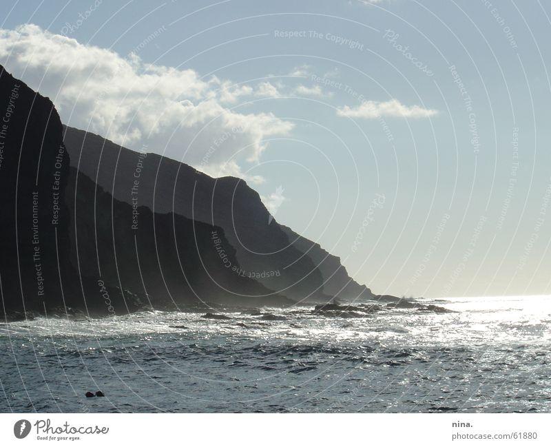 La Gomera Sonne Meer Berge u. Gebirge Horizont Insel Brandung Gischt