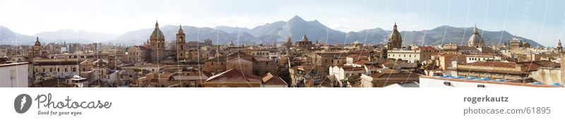 Über den Dächern von Palermo Dach Sizilien Stadt Panorama (Aussicht) Skyline groß Panorama (Bildformat)