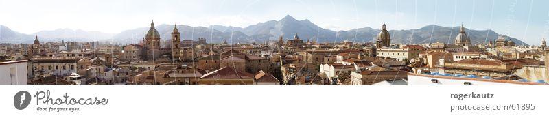 Über den Dächern von Palermo Stadt groß Dach Skyline Panorama (Bildformat) Sizilien Palermo