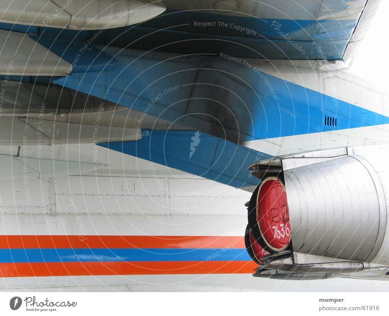 Flugzeug 1 weiß blau Kraft Luftverkehr Technik & Technologie Düsenflugzeug Triebwerke Elektrisches Gerät