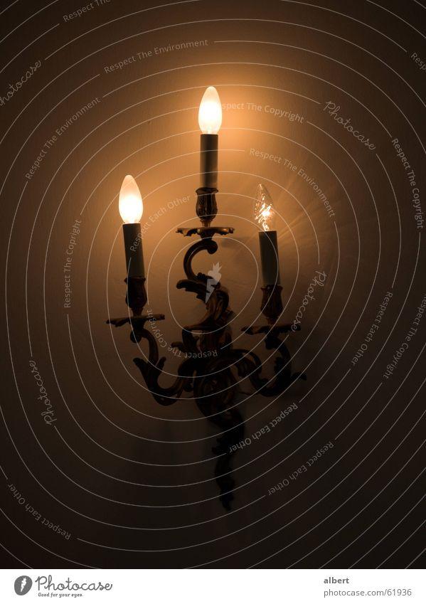 elektrische Kerzen Kerzenständer Lampe Glühbirne dunkel gelb Wandleuchte