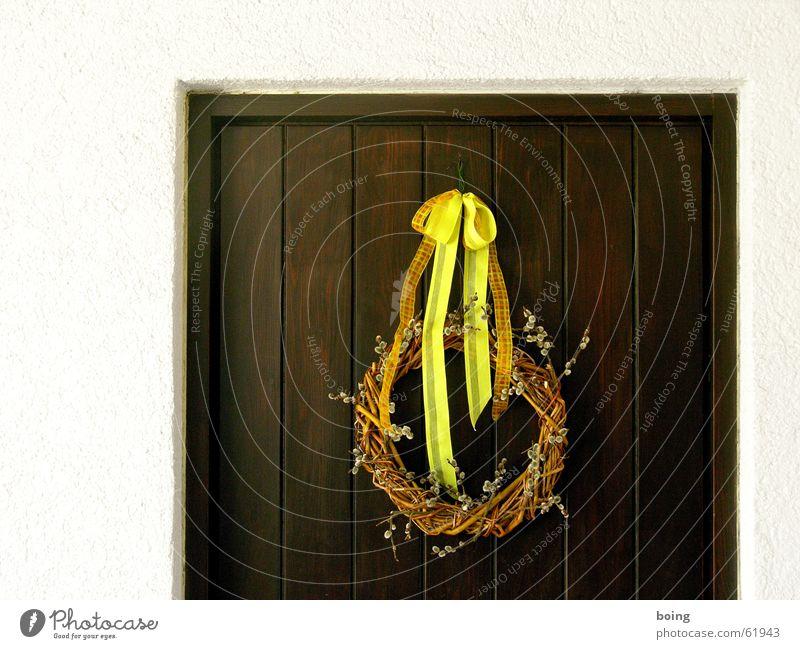 von Herzen Tür Kranz Schmuck Dekoration & Verzierung Weide Schleife Weidenkätzchen Blumenhändler Blumenladen Ostern Frühling Reichtum gebinde gelbes band