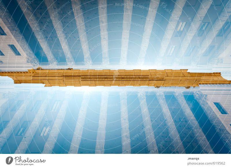 Moderne Antike elegant Stil Design Ferien & Urlaub & Reisen Tourismus Kultur Wolkenloser Himmel Rom Italien Altstadt Bauwerk Gebäude Architektur Säulenkapitell