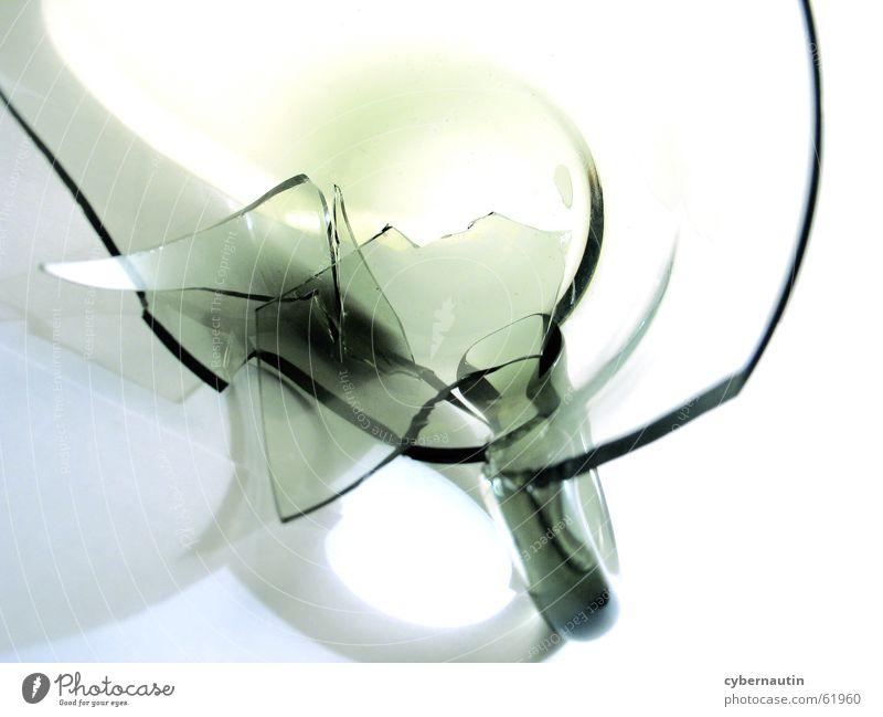 kaputte Tasse 1 Glas Küche Pastellton Tragegriff Glasscherbe