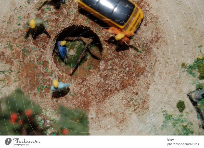 Baugrube Arbeit & Erwerbstätigkeit klein Modellbau Modelleisenbahn