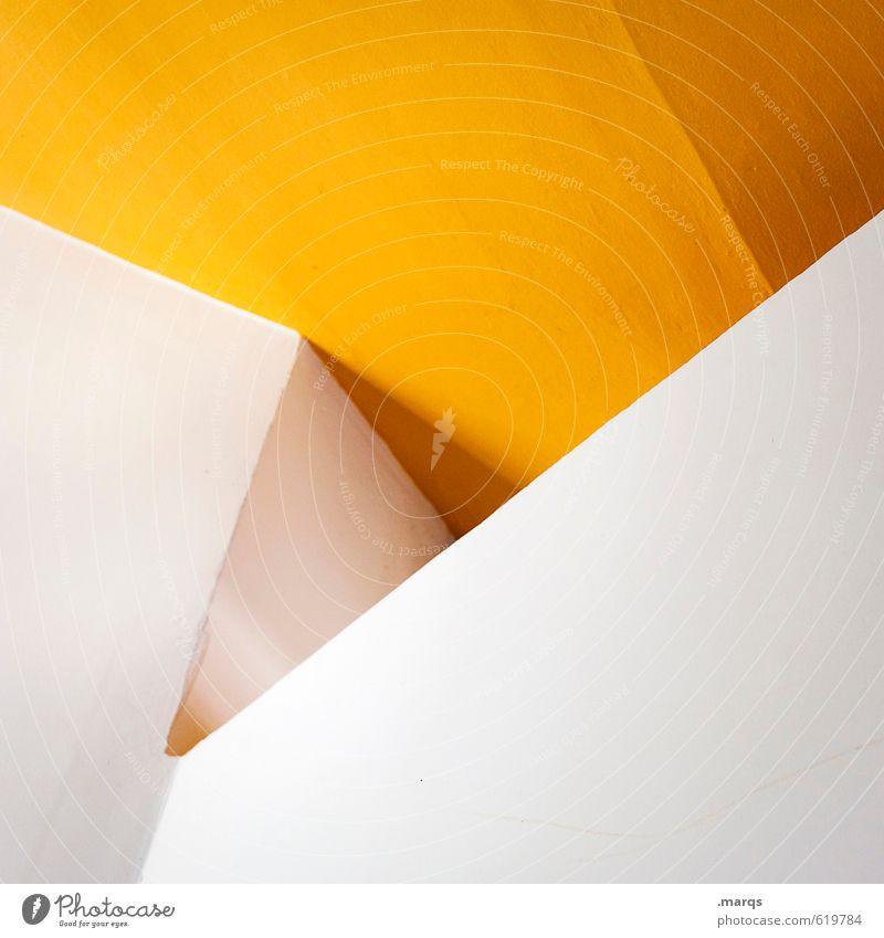 Check weiß Farbe gelb Innenarchitektur Stil außergewöhnlich elegant Lifestyle Design modern Perspektive Coolness einzigartig Grafik u. Illustration trendy eckig