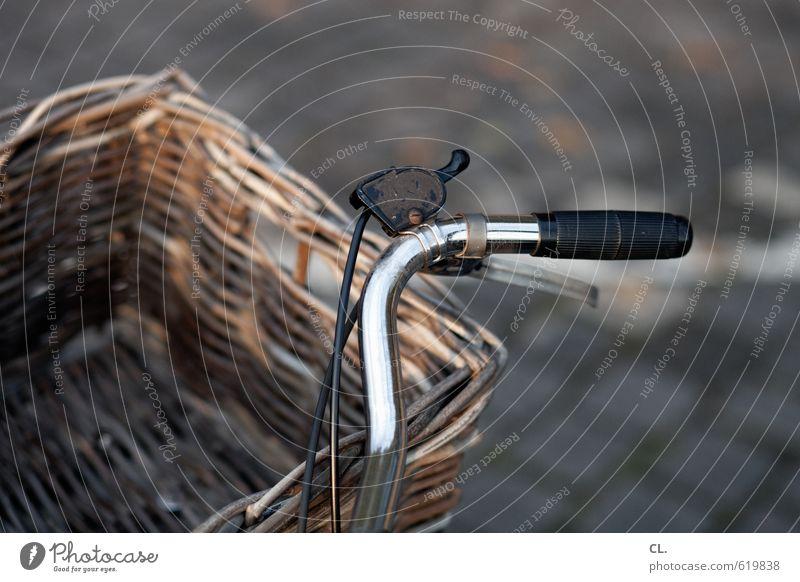 runterschalten alt Straße Wege & Pfade Freizeit & Hobby Verkehr Fahrrad warten Pause Fahrradfahren Güterverkehr & Logistik Verkehrswege unterwegs stagnierend Griff Korb Verkehrsmittel