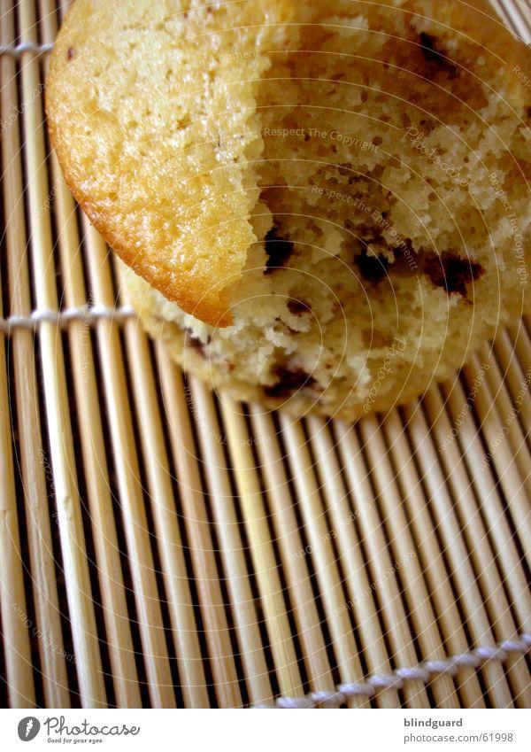 Angebissen Muffin Teile u. Stücke Kuchen süß lecker Backwaren Geburtstag schoko Ernährung Tee konditor
