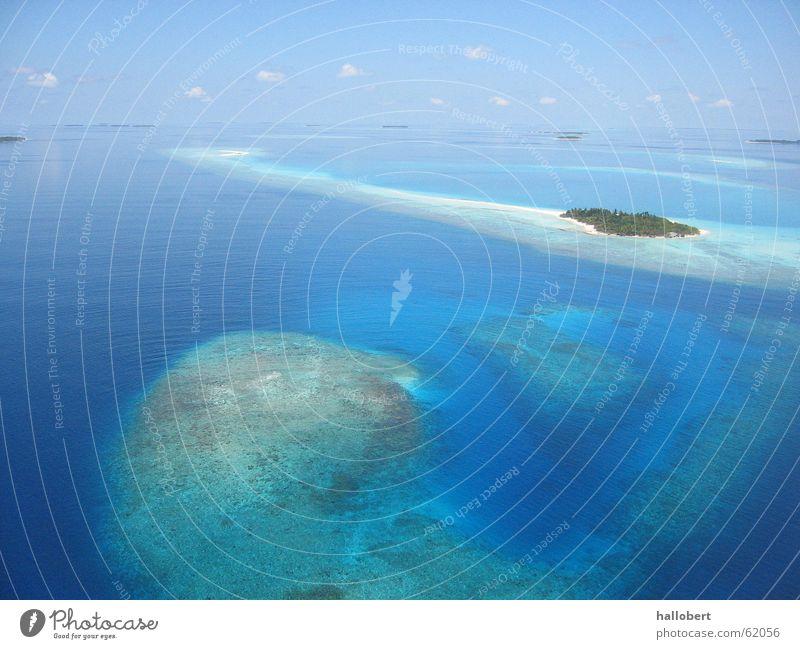 Malediven 02 Meer Strand Ferien & Urlaub & Reisen Küste Insel Trauminsel