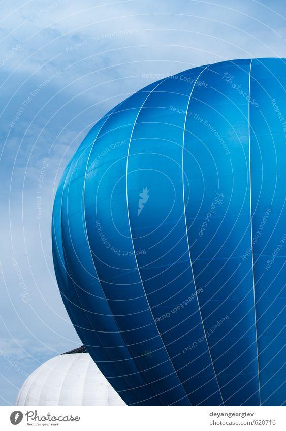Blauer Ballon am blauen Himmel Freude Erholung Freizeit & Hobby Ferien & Urlaub & Reisen Tourismus Ausflug Abenteuer Freiheit Sommer Berge u. Gebirge Sport