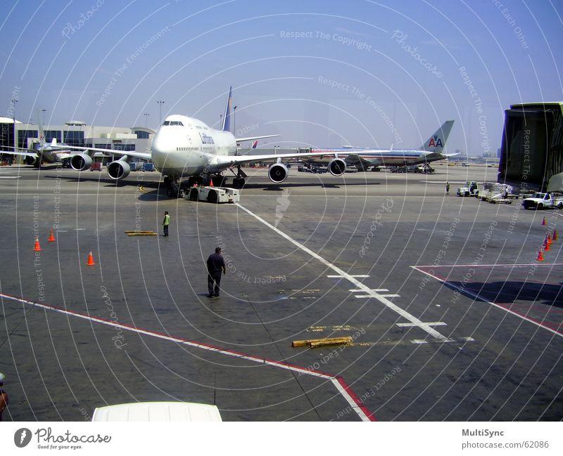 Lufthansa kommt lufthansa Flughafen ankuft los angels