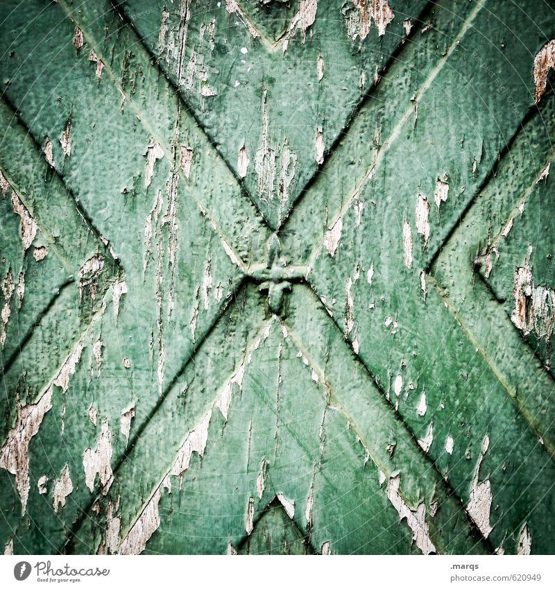 x² Mauer Wand Holz alt dunkel einfach kaputt grün Farbe Verfall Vergänglichkeit Zeit Hintergrundbild Kratzer Farbfoto Gedeckte Farben Außenaufnahme