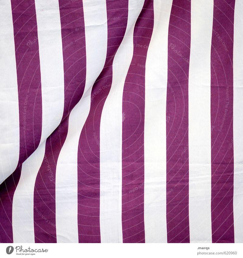 vertikal Stil Design Linie Streifen einfach violett weiß Farbe Irritation Stoff Hautfalten Grafik u. Illustration Hintergrundbild Wetterschutz Wind Farbfoto