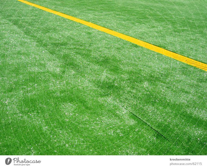 rasenkunst grün gelb Linie glänzend Bodenbelag gestellt Kunstrasen