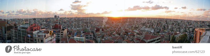 Istanbul Panorama Sonnenuntergang rot Panorama (Aussicht) Stadt Naher und Mittlerer Osten Himmel groß Panorama (Bildformat)