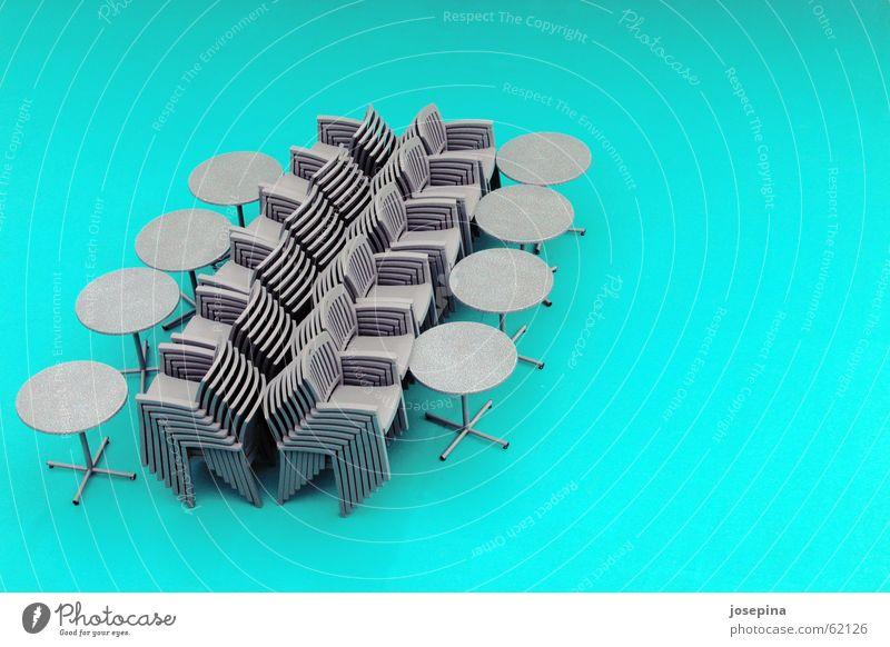 ozeanien Ferien & Urlaub & Reisen Meer Erholung grau sitzen frei warten verrückt einfach Tisch fantastisch Sauberkeit Neigung Stuhl türkis wenige