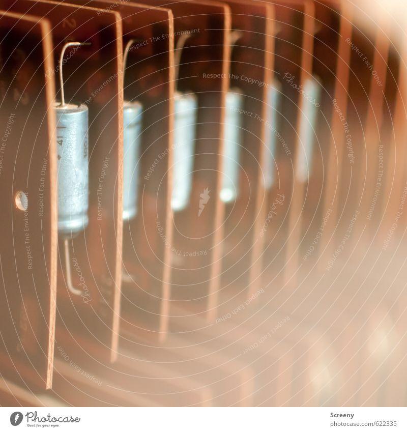Rechenwerk Elektronik Computer Hardware Kondensator Platine Technik & Technologie Wissenschaften Fortschritt Zukunft Informationstechnologie eckig historisch