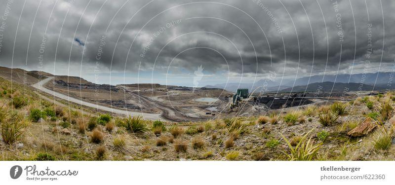 Open Cast Coal Mine Stockton Baumaschine Natur Landschaft Himmel Wolken Gewitterwolken Klimawandel Berge u. Gebirge Arbeit & Erwerbstätigkeit Tourismus
