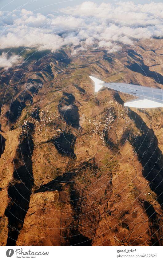 Landeanflug harmonisch Kur Schwimmen & Baden Garten Restaurant Bar Cocktailbar Landschaft Sand Luft Wasser Wolken Sommer Insel Gomera Teneriffa Straßenverkehr