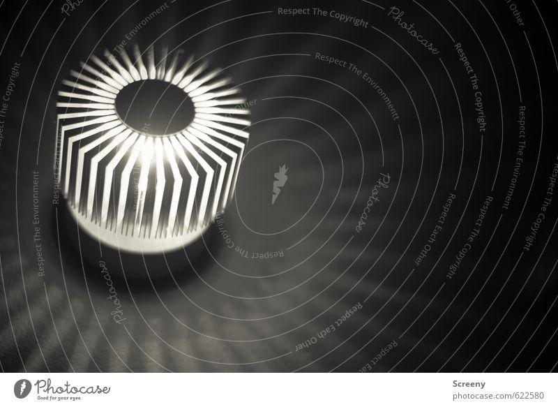 Strahlend Wand Mauer Beleuchtung Lampe elegant modern ästhetisch Energie rund strahlend Lamelle