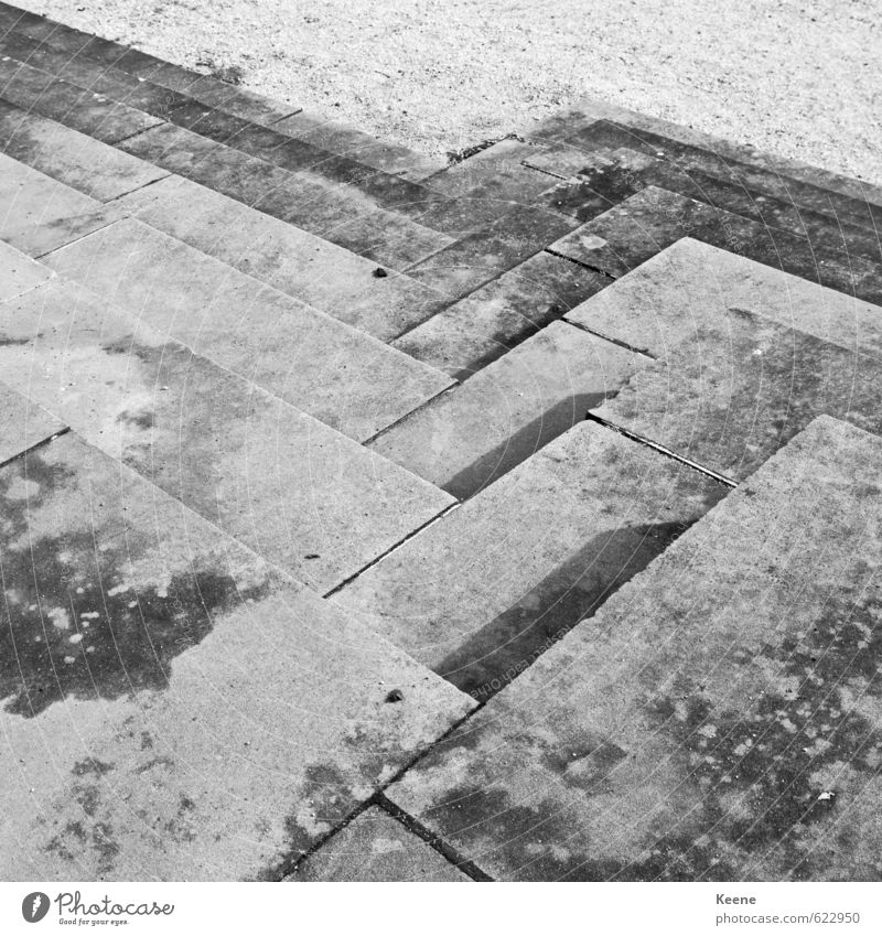 flight of steps Bewegung grau Treppe trist Ordnung Perspektive ästhetisch unten Mobilität