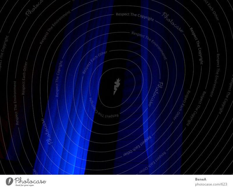 Vorhang Sonnenlicht Nacht Stoff Licht dreidimensional Wohnzimmer Dekoration & Verzierung Möbel blau Linie Strukturen & Formen Schatten Lichterscheinung